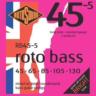 Rotosound Bass Strings RB455 5er 45-130