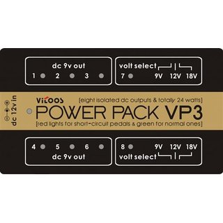 Vitoos VP3 power supply for effect pedals