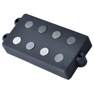 Nordstrand Pickups MM4.4 Quad coil Music Man reproduction, dogear cover, 4 string, black
