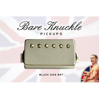 Bare Knuckle Pickups Black Dog humbucker Set Nickel Cover