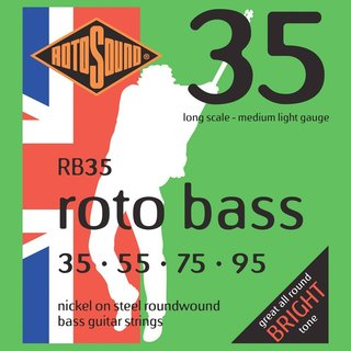 Rotosound RB35 Nickel Roundwound Bass Strings 35-95